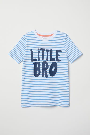 Short-sleeved sibling top - White/Little Bro - Kids | H&M