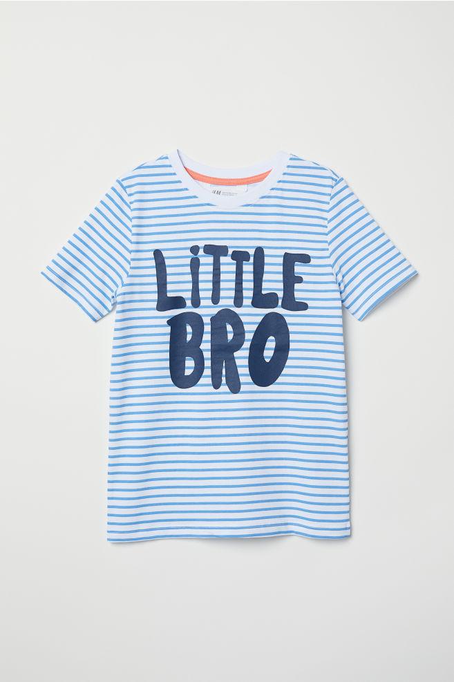 b32acab27 Short-sleeved sibling top - White/Little Bro - Kids   H&M ...