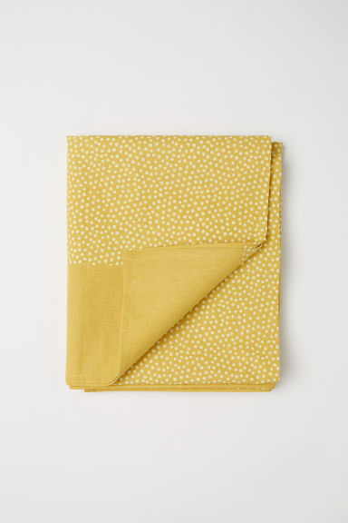 Cotton tablecloth - Yellow/Spotted - Home All | H&M CN