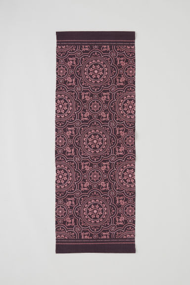 Patterned cotton rug - Purple/Patterned - Home All | H&M CN