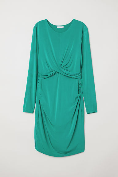 MAMA Draped dress - Green -  | H&M CN