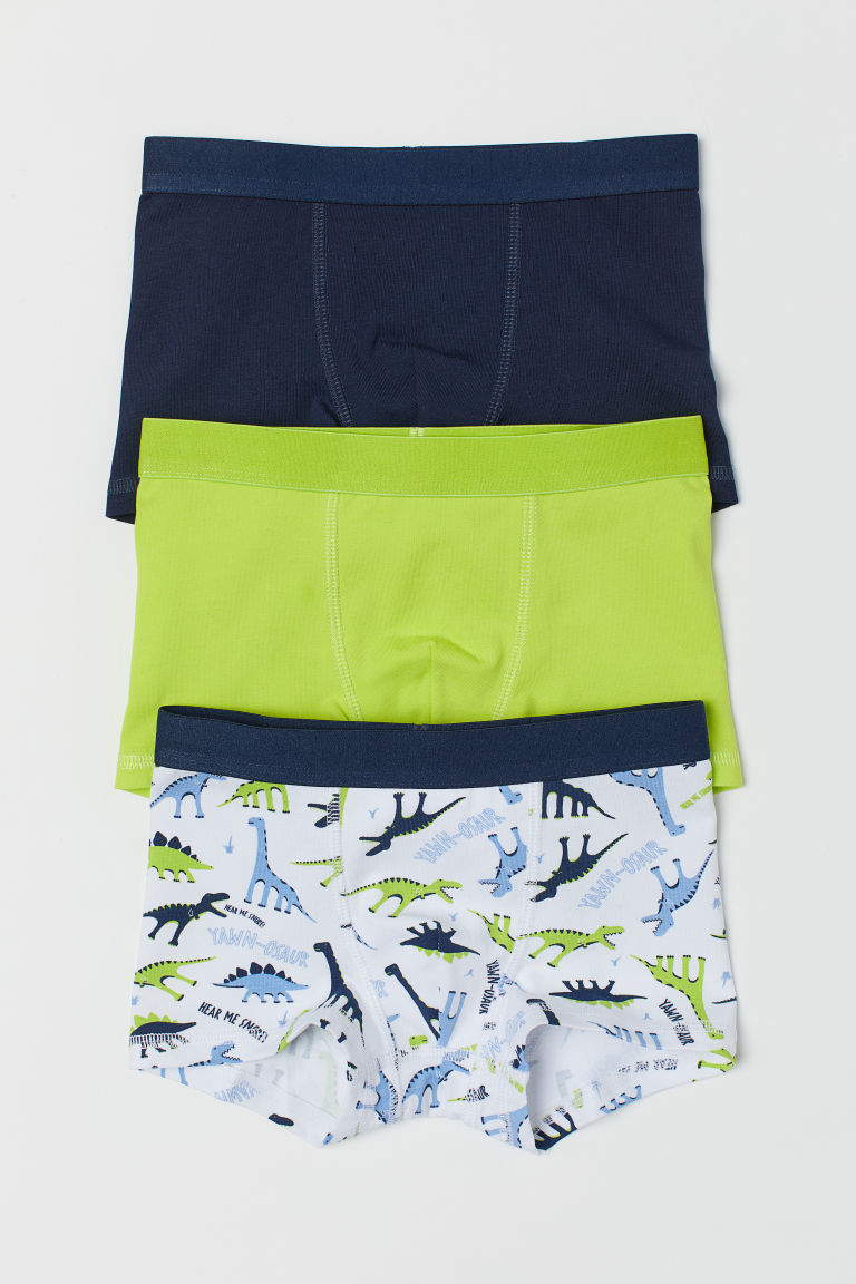 3-pack boxer shorts - Lime green/Dinosaurs -  | H&M