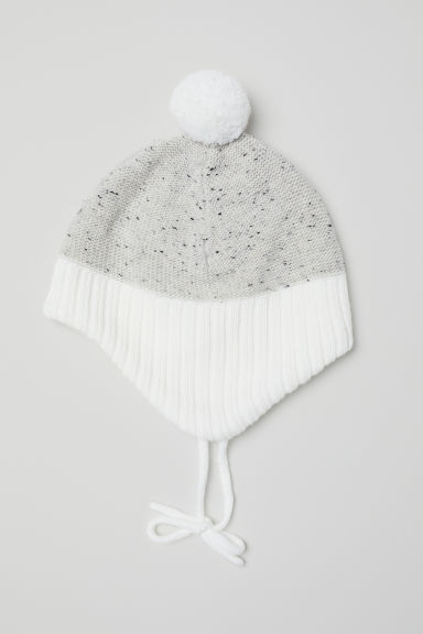 Berretto con fodera in pile - Bianco -  | H&M IT