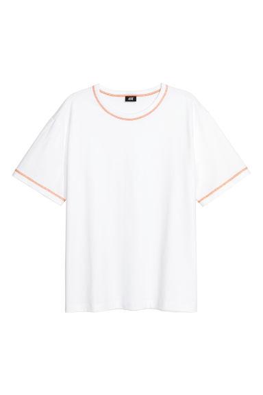 Sturdy cotton jersey T-shirt - White -  | H&M