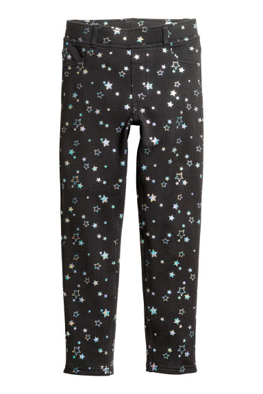Treggings in jersey - Nero/stelle -  | H&M CH