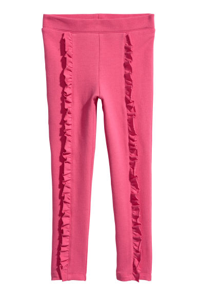 Legging en jersey - Rose/volants -  | H&M BE