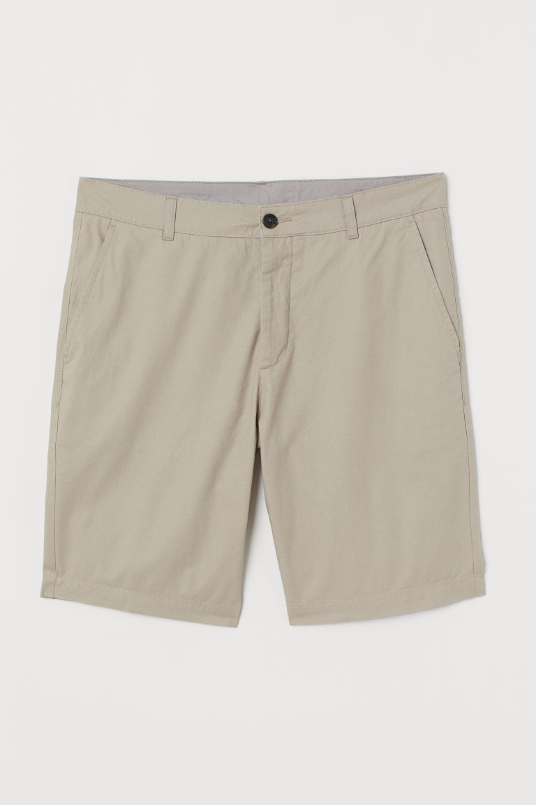 Knee-length cotton shorts - Beige - Men | H&M CN