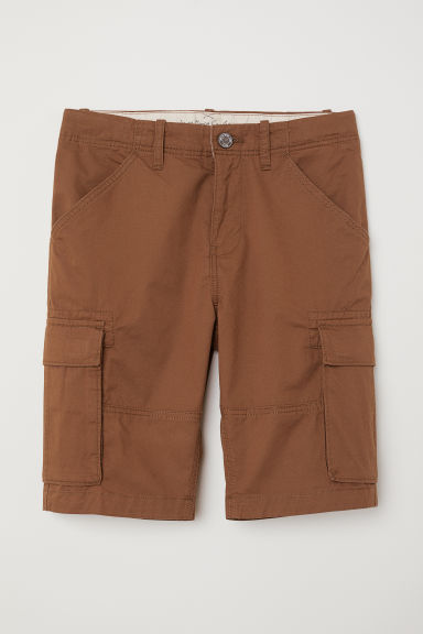 Knee-length cargo shorts - Brown -  | H&M