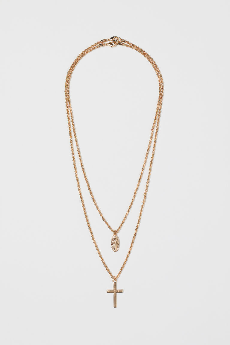 2-pack necklaces - Gold-coloured - Men | H&M CN