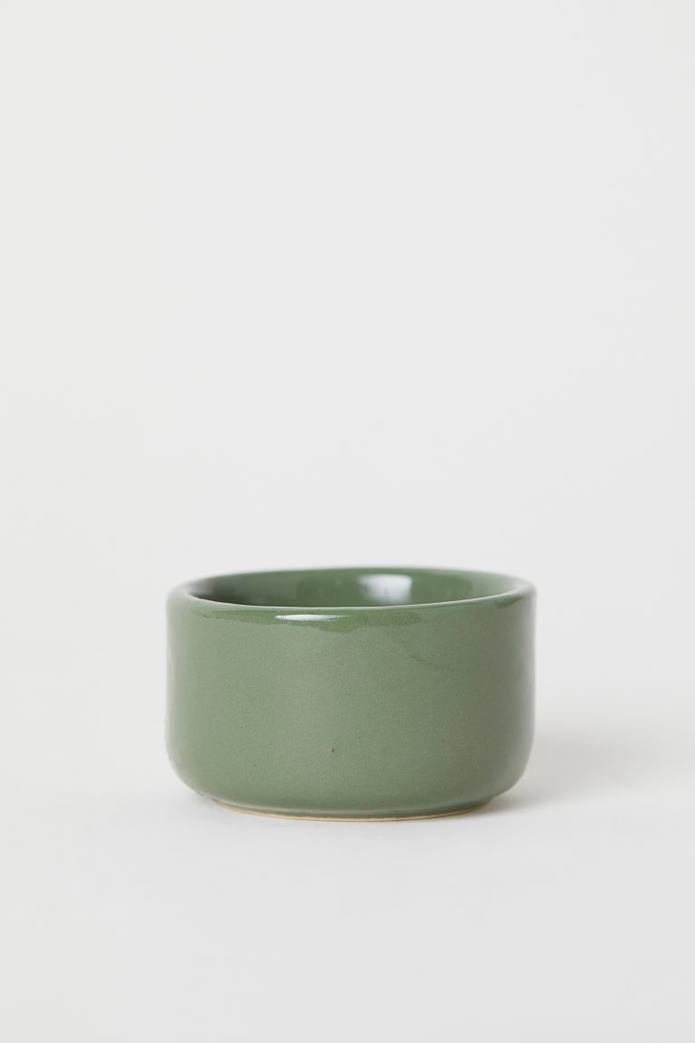 Portacandeline in ceramica - Verde - HOME | H&M IT