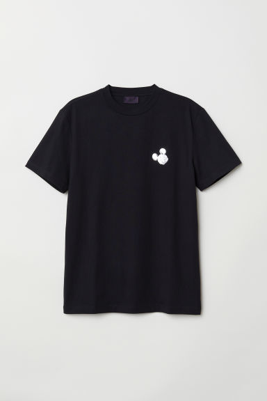 T-shirt with a motif - Black/Mickey Mouse - Men | H&M CN