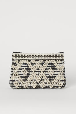 Jacquard-weave Makeup Bag