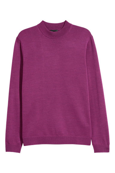 Merino wool-blend jumper - Magenta - Men | H&M