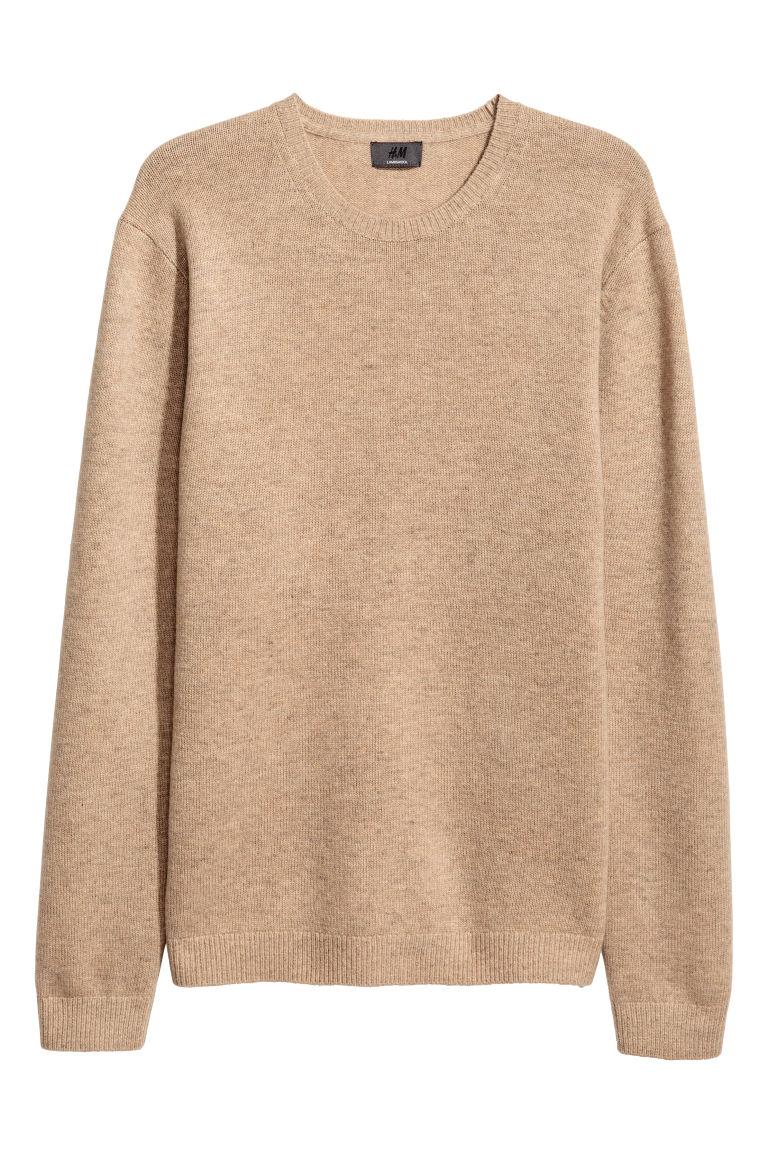 jó textúra elfogadható árú néhány nap múlva Báránygyapjú pulóver - Sötétbézs melír - FÉRFI | H&M HU