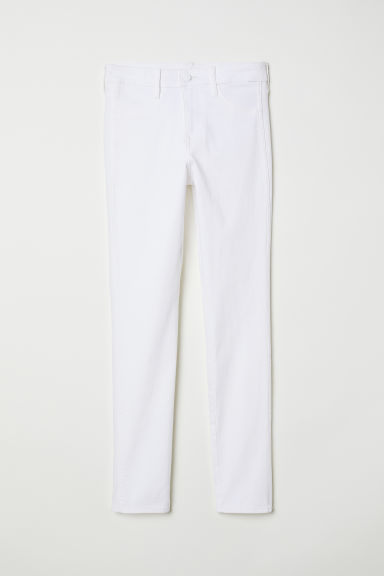 Skinny Regular Ankle Jeans - Wit - DAMES | H&M BE