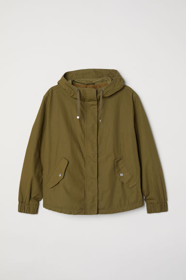 H&M+ Pima cotton jacket - Khaki green - Ladies | H&M