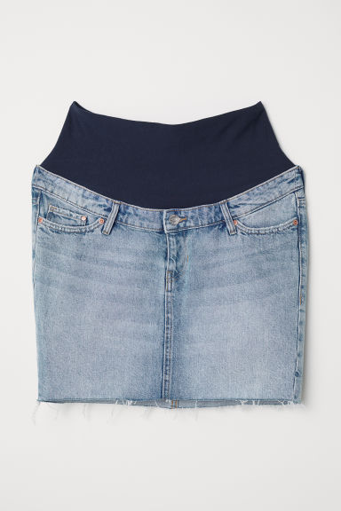 MAMA Denim skirt - Denim blue - Ladies | H&M