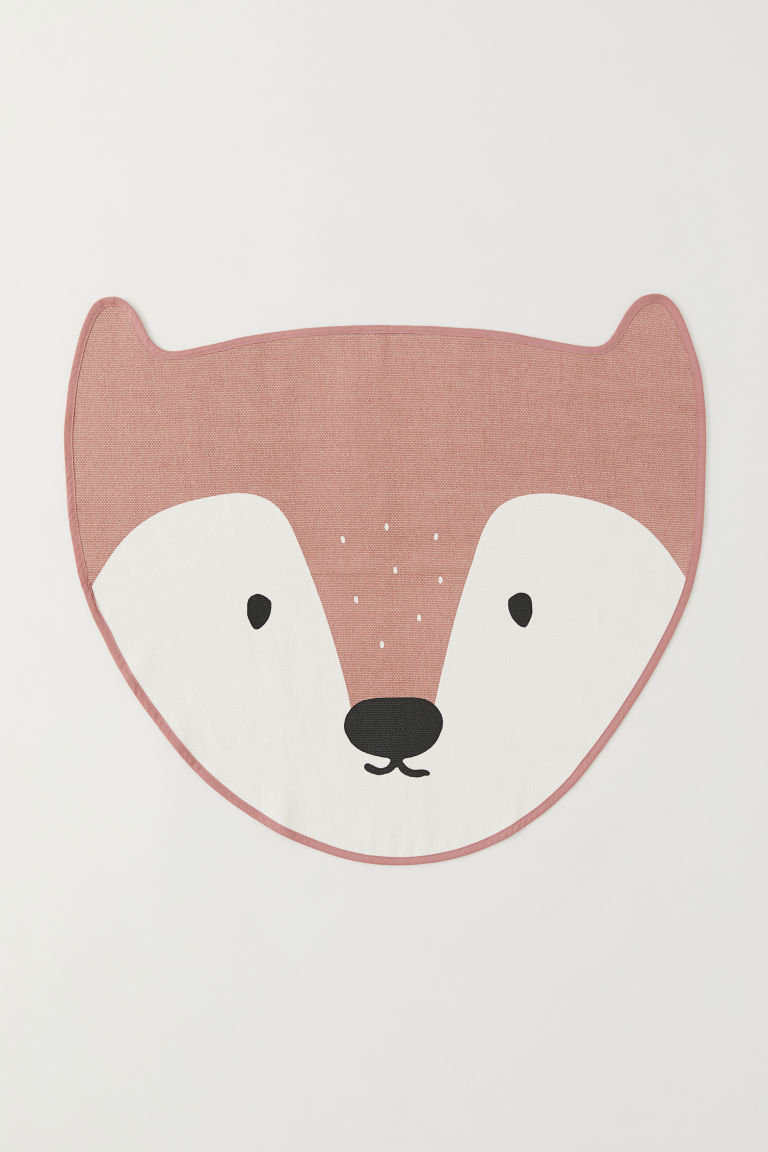 Animal-shaped rug - Dark pink/Fox - Home All | H&M CN