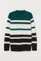 Dark green/Striped