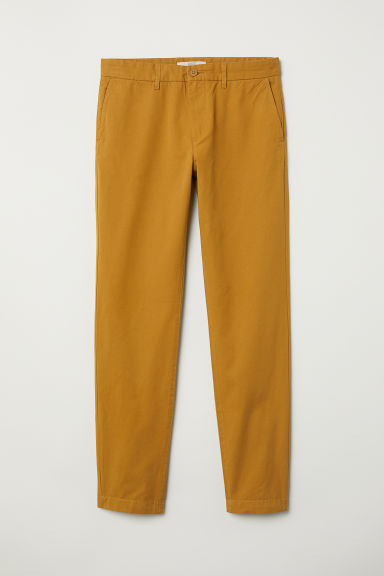 Cotton chinos Slim fit - Ochre - Men | H&M