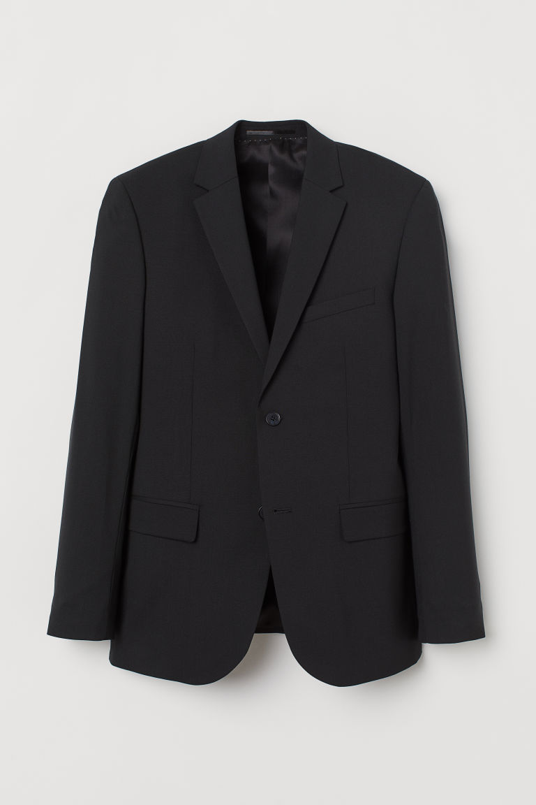 Wool jacket Slim Fit - Black - Men | H&M