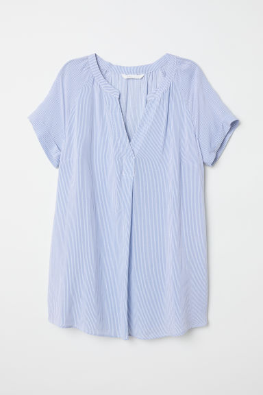 MAMA Patterned blouse - Light blue/Striped - Ladies | H&M