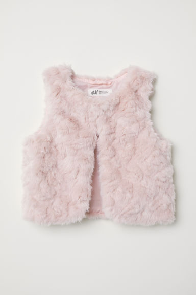 Faux fur gilet - Light pink - Kids | H&M