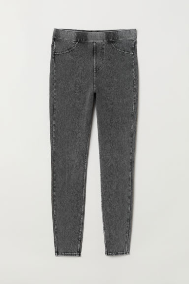 Jersey Leggings - Dark gray washed out - Ladies | H&M US