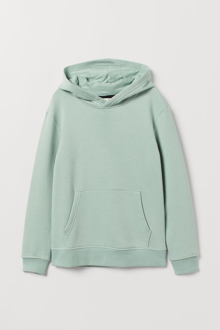 Hooded top - Mint green - Kids | H&M CN