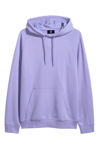 Hooded top with raglan sleeves - Purple -  | H&M IE
