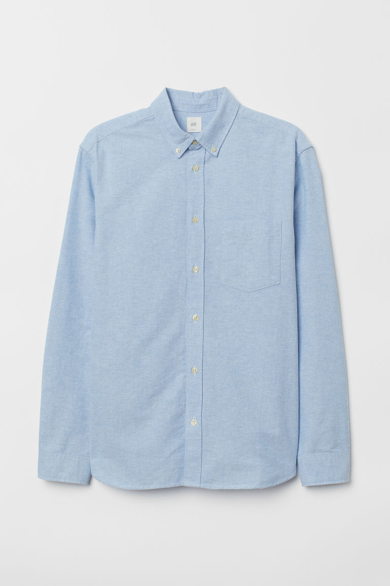 Oxford shirt Regular Fit - Light blue - Men | H&M CN