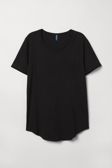 Cotton jersey T-shirt - Black - Men | H&M