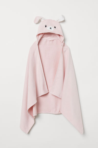 Hand towel with a hood - Light pink/Rabbit - Home All | H&M CN