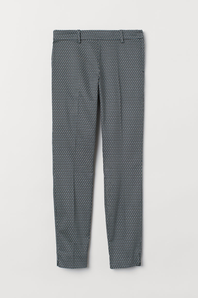 Cigarette trousers - Black/Patterned - Ladies | H&M CN