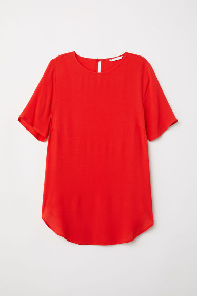 Top van crêpe - Felrood - DAMES | H&M BE