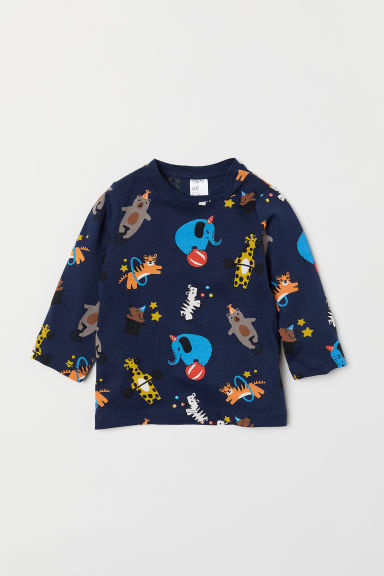 Jersey top - Dark blue/Circus - Kids | H&M