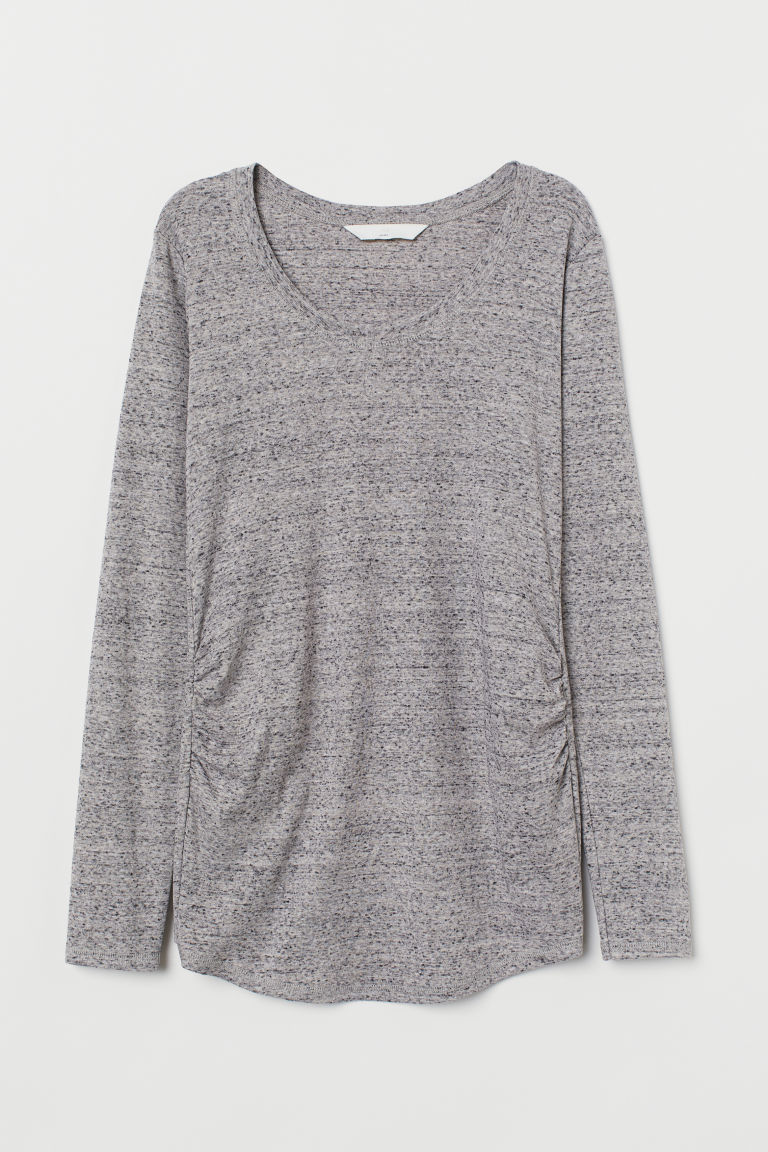 MAMA Top in jersey - Grigio mélange - DONNA | H&M IT