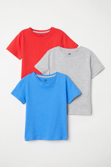 Lot de 3 T-shirts - Bleu - ENFANT | H&M CA