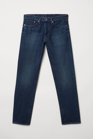 Straight Jeans - Dark denim blue -  | H&M CA
