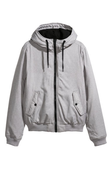 Padded jacket - Light grey marl -  | H&M IE