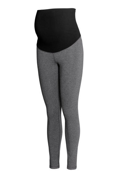MAMA Jersey leggings - Dark grey marl - Ladies | H&M
