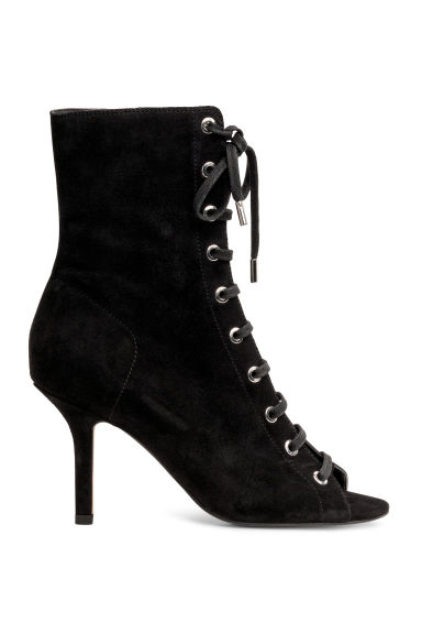 Suede ankle boots - Black - Ladies | H&M IE