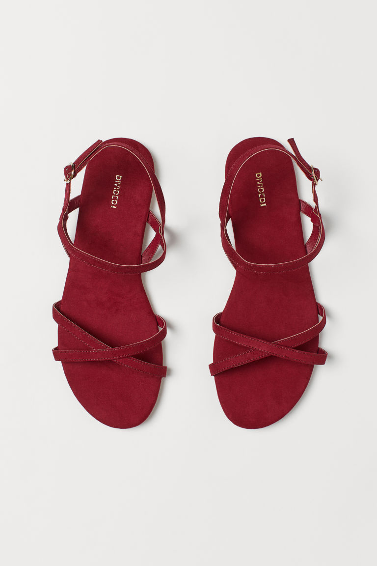 Sandals - Dark red -  | H&M