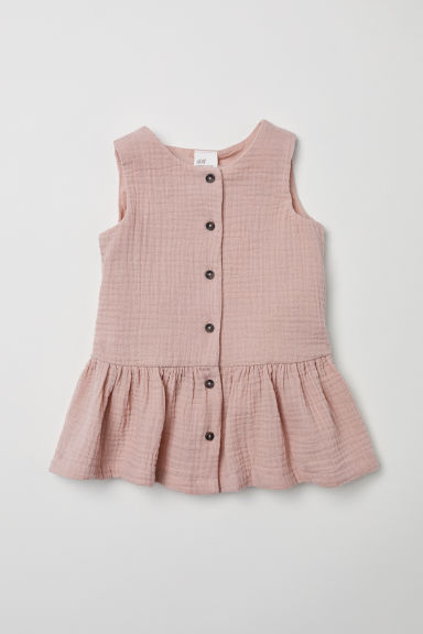 Double-weave cotton dress - Powder pink -  | H&M CN