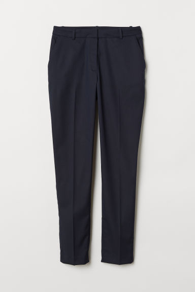 Pantaloni da tailleur - Blu scuro -  | H&M IT