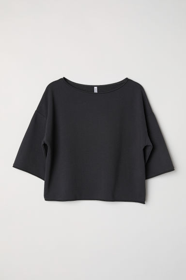 Top in felpa - Nero - DONNA | H&M IT