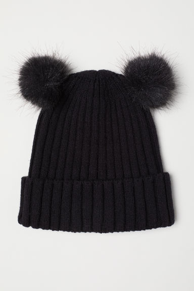 Rib-knit hat - Black - Kids | H&M CN