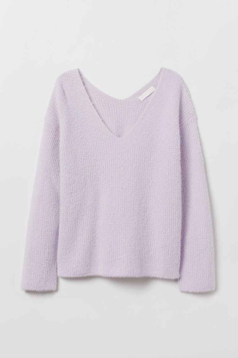V-neck Sweater - Light purple -  | H&M US