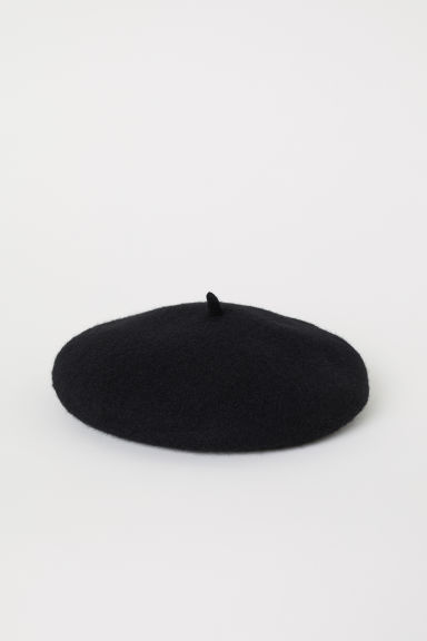 Felted Wool Beret - Black - Ladies | H&M US