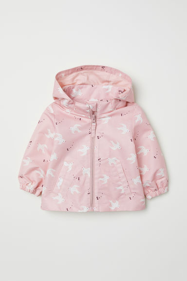 Hooded outdoor jacket - Light pink/Birds -  | H&M CN